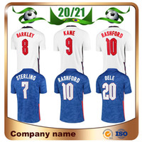 2021 Kane Europe Soccer Jerseys 20/21 Home White Sterling Dele Rashford Shirt Away Barkley Équipe nationale Uniforme de football