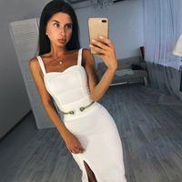 Pre-Sale Adyce 2020 neue Sommer-Verband-Kleid-Frauen-elegante Berühmtheits-Abend-Partei-Kleid Vestido Sexy Spaghetti-Bügel-Verein