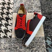 Zapatillas de deporte de primera calidad Top Zapatillas de deporte Top Junior Rojo Mujeres, Hombres Pisos de ocio Diseñadores de lujo Reductores Caja de entrenadores, UE47