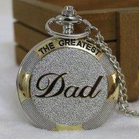 أعظم ووتش DAD الجيب الفاخرة الآباء الشظية لون الذهب يوم عيد الميلاد أفضل هدية قلادة ساعة رجالية الأب الساعات فوب سلسلة ذكر ريلوخ