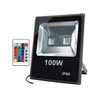 LED RGB Lumière d'inondation Phase d'éclairage, 30W Couleur extérieure lumières changeantes avec télécommande, étanche IP65 Dimmable laveuse lumière