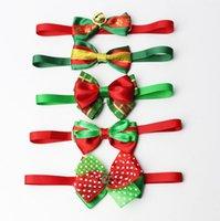 Réglable de chien Noeud papillon cou Accessoire pour Noël Pet Colliers Collier Collier chiot Couleur vive Pet Bow Mix Couleur HH9-3260