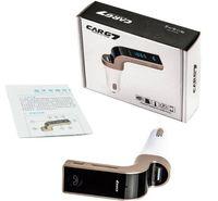 G7 Kablosuz FM Verici USB Şarj Adaptörü Eller Serbest LCD MP3 Çalar Müzik destek TF araba Şarj