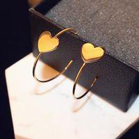 alta calidad agood aumentó grandes pendientes de la forma del corazón aro de oro para las mujeres femenina de la boda comunicado accesorios de la joyería del partido ER00724