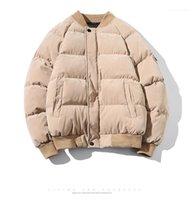حجم القمم الرجال أسفل ستر مصمم أزياء Japanses نمط زيبر والجيب الشتاء شارع العليا زائد