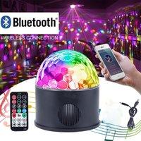 Bluetooth Disco Ball Light Music Speaker, USB портативный 9W 9color Режимы Танцевальный зал Strobe Мини светодиодный свет этапа партии света Вращающаяся освещения