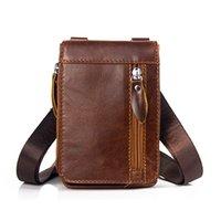 MVA Waist-Belt Bag Men's Small Shoulder Bag Male Genuine Leather Phone Pack Crossboday Handbags Messenger Bag Leather Satchel