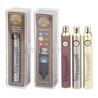 Premium Brass Knuckles preriscaldamento 650mAh 900mAh tensione variabile e-sigaretta Vape Pen batteria per 510 filo spesso olio Cartucce