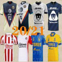 Thai Quality 2020 2021 Club América Futebol Jerseys Unam 2021 América Tigres Uanl Chivas de Guadalajara Camisa de Futebol Santos Laguna Jersey