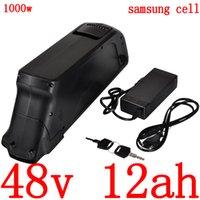 Свободный долг 48V 500W 750W 1000W Ebike аккумуляторная батарея 12Ah электрический велосипед 48v литий-ионный использование Samsung клеток