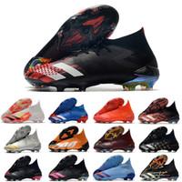2021 CHOUETIRAS Chaussures Predator Mutator 20+ FG in Uniforia Pack Turf PP Paul Pogba Chaussure de football de football Slip-On 20.1 Bottes de taquettes 39-45