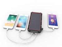 Drahtlose Ladegeräte Solar Power Bank 16000mAh Tragbare Wasserdichte Ladegerät Powerbank Dual USB Externe Akkuladung