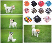 Собака Hat ушные отверстия Лето Холст Baseball Cap для малого Pet Dog Открытый аксессуары Походные Pet Продукты 11 Стили Бесплатная доставка