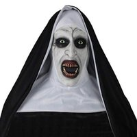 2019 halloween mask the nun horror maske cosplay horror latexmasken mit kopfschule halloween party dekoration requisiten y200103
