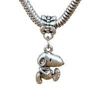 100 stks / partij Antiqued Silver Dog Bungles Charm Hangers Kralen Voor Sieraden Maken Armband DIY-accessoires