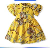 Saia da princesa da menina nova do verão, a cintura étnica do estilo de mangas curtas decote bowknot vestido 2-6 anos de idade ly050