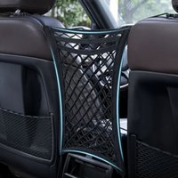 Universal Strong Elastic Car Organizer Net Mesh Seat Back Bag Organizer Stowing Tidying Interior Car Styling Accessories Supplie