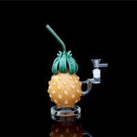 """11"""" forma copo abacaxi vidro reciclador de tubulação do fumo cachimbo Bongo vidro dab plataforma Bongo tubulação de água with14mm união fêmea de vidro"""