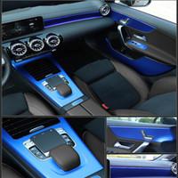 مركز السيارات التصميم 3D 5D ألياف الكربون سيارة الداخلية حدة تغير لون صب لاصق ملصق مائي لمرسيدس-بنز الفئة 2019