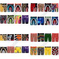 32 estilos Quick Seco Men Calcinha Boxers Designers Underwear Long Boxer Briefs Shark Cartoon Beach Shorts Calças Underpant D81705