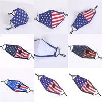 Estados Unidos Estrelas Bandeiras Máscaras Com Mascarilla Proteção poeira lavável Válvula Mascherine Cotton Moda Crianças Adultos 4 75zp C2