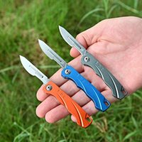 Mini Aluminum Alloy Folding Knife Scalpel Utility Carving Knife Outdoor Portable Keychain Knife with 10pcs #24 Blades