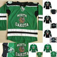 Jugend North Dakota Fighting Sioux Hockey Jerseys 7 TJ Oshie 11 Zach Parise Kämpfe Sioux Dakota College doppelt genäht Name und Nummer