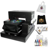 Automatique A3 DTG imprimante T-shirt à plat Machine d'impression avec encre pour textile sac en toile Chaussures à capuche directe vers les imprimantes de vêtements