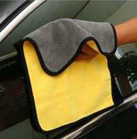 Car Care Polimento lavar toalhas de lavagem de secagem de microfibra toalha Plush Grosso Car pano de limpeza de fibra de poliéster Plush toalha macia
