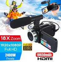 Профессиональный 4K HD видеокамеры видеокамера ночного видения 3,0-дюймовый ЖК-камера с сенсорным экраном 18x цифровой зум с микрофоном