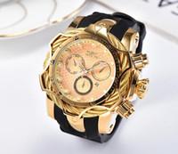 Горячий продавать INVICTA Спорт Повседневный Календарь Кварцевые Мужские часы Royal Oak Большой набор проводов PU Группа