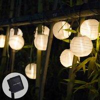 Luz solar de la linterna LED de la guirnalda de la boda de Deco secuencia solar luces al aire libre luces de colores para la lámpara solar Garland decoración del jardín