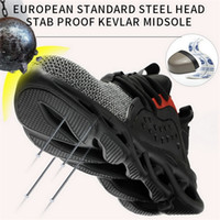 Heißer Stiefel für Männer Anti-Smashing Construction Steel Toe Cap Arbeit Schuhe Unzerstörtliche Sicherheit Sneakers Y200915