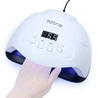 Estrenar 90W SUNX7 PLUS lámpara UV LED del clavo de la lámpara 42pcs Máquina LED que cura la manicura del polaco del gel con Auto Sensi secador del clavo