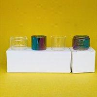 유리관에 대한 유리 튜브 핵심 RTA 2ml 가방 일반 볼록 전구 지방 소년 맑은 무지개 1 / 3 / 10pcs 소매 패키지