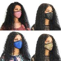 Paillettes polvere maschere viso prova Flash respiratore Earloop Moda traspirante pieghevole Muti Colore Mascarillas luce riflettente riutilizzabile 6XB C2