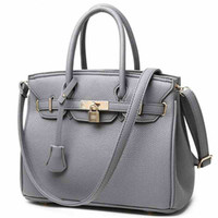 Hot Sale Vogue Star Lock Rivet Ladies Leather Tote Bag 2016 New Handbags High Quality Women Shoulder Messenger Bag