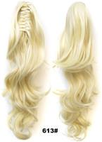 613 # Extentions de cheveux de griffes blondes par i Capelli Ponytail 55cm 160g Straight Perruques de Cheveux Humains Bundles CP333