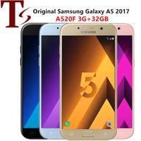 تم تجديده الأصلي Samsung Galaxy A5 2017 A520F 5.2 بوصة Octa Core 3GB RAM 32GB ROM 4G LTE الهاتف المحمول الروبوت