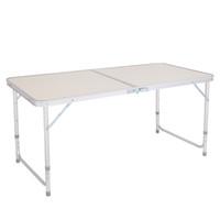 3ft 36inch Table pliante portable polyvalent blanc pour Camping pique-nique Partie, intérieur Accueil Utilisation