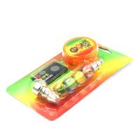 1set Pfeife mit 1pcs Tabak Herb GrinderMesh Taschen Bildschirm Herb Rohr Rauchzubehör DHL Schneller Versand DHF1060