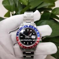 클래식 시리즈 BP 2813 운동 Orologio 시코 사기꾼 regolazione indipendente GMT II 펩시 126719 블랙 다이얼 자동 남성 시계