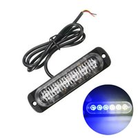 1x Weiß Blau 6 LED dünne 12V 24V 24LED Stroboskop Auto Moto Trucks LED Seitenmarkierungsleuchten blinkendes Warnlicht-Birnen-Lampen
