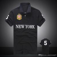 Alta qualidade 100% algodão respirável camisetas Polo preto de golfe para homens com projeto do bordado