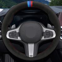 Auto Lenkradbezug Schwarz DIY Handgenähtes Suede Für BMW M Sport G30 G31 G32 G20 G21 G14 X3 G15 G16 G01 X4 G02 X5 G05