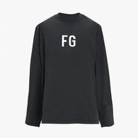 19SS FEAR OF GOD 6TH LONG SLEEVE 'FG'TEE FG Jerry FG-Buchstabe gedrucktes T-Shirt beiläufige FOG Breath Straße Skateboard Mode T HFLSTX489