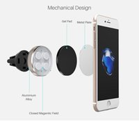 100pcs Car Magnetic Air Vent Mount Mobile Smart Phone Holder Handfree Dashboard Metal Stand For iPhone Samsung S8