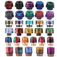 20 Styles 810 510 Resin Drip Tips Epoxy Mouthpeice Wire Bore Suck Tip for TFV12 Prince and TFV8 X Big Baby Crown Atomizer