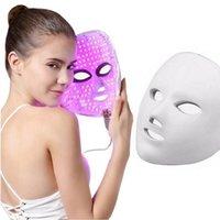 Лучшие 7 цветов красоты терапии фотонов светодиодные маски для лица легкие уход за кожей омоложение морщин уклон угревательством лицом антивозрастной красоты спа