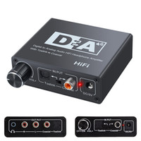 Caldecott DAC Digital-Analog-Audio Converter Optical Toslink Koaxial Toslink Bidirektionale Schalter RCA 3,5 mm Klinke